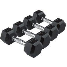 Egykezes hex szett 1-2-3-4-5-6-7-8-9-10 kg (14 pár)